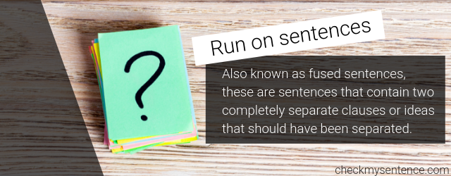 free run on sentence checker online